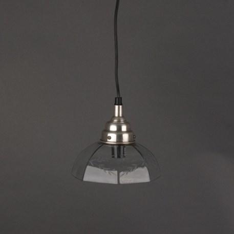 Hanglamp aan snoer met heldere glaskap