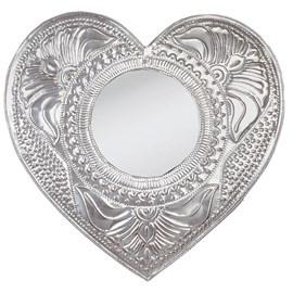 Zilveren spiegel Romantic Relief