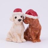 Peper- en Zoutstel Kerstpuppies