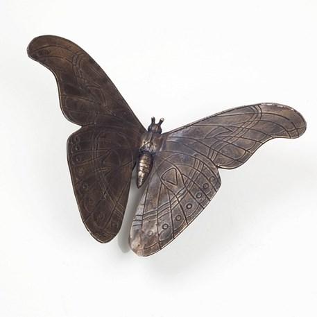 Sculptuur Bronzen Vlinder