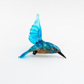 Glassculptuur Vliegende Ijsvogel