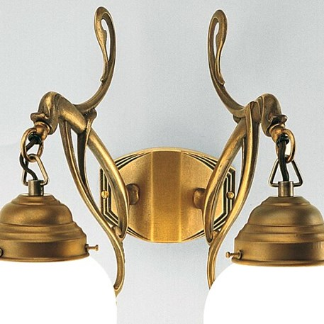 Wandlamp 2-lichts Flora in brons