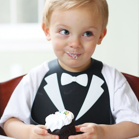 Make My Day | Baby Bib Black Tuxedo