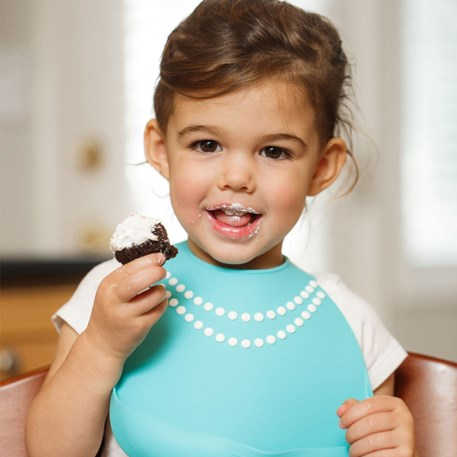 Make My Day | Baby Bib Parels Tiffany Blue