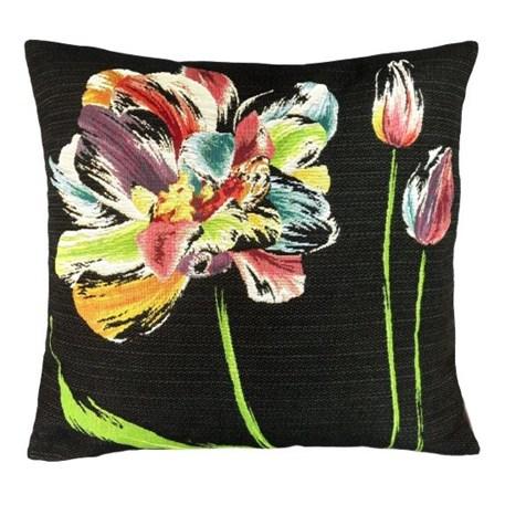 Kussen Three Colourful Tulips