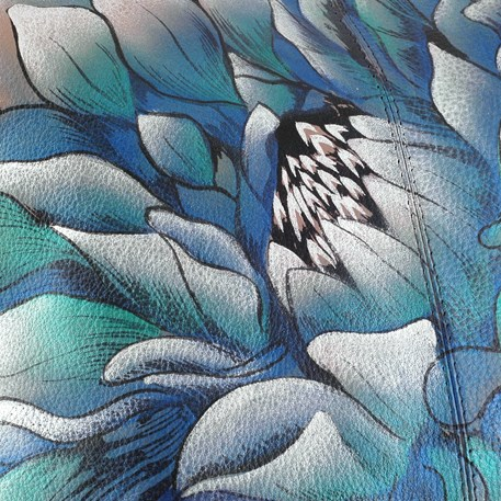 Detail Handtas Blue Flower