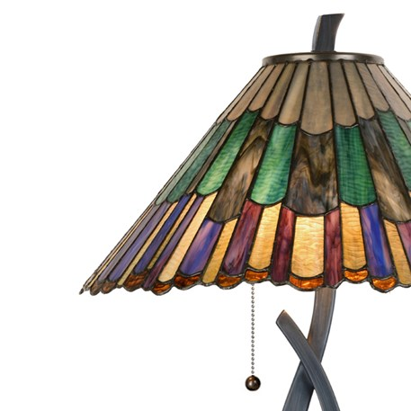 Tiffany Tafellamp Styled Flower Detail Kap