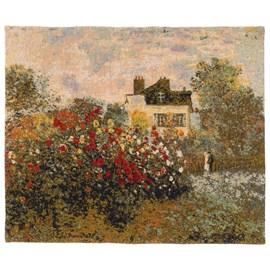 Wandkleed Huis en tuin van Monet