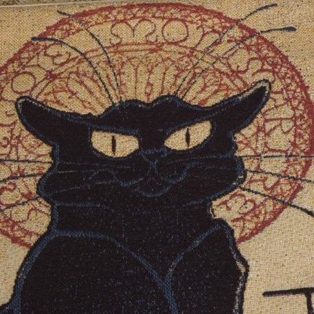 Detail Wandkleed/Gobelin Chat Noir