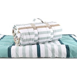 Quilt / Picknickdeken Blue Stripes