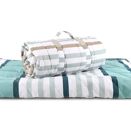 Quilt/Picknickdeken Blue Stripes