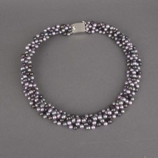 Collier Parels Grey/Purple Rain