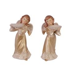 Set van 2 Theelichthouders Engel