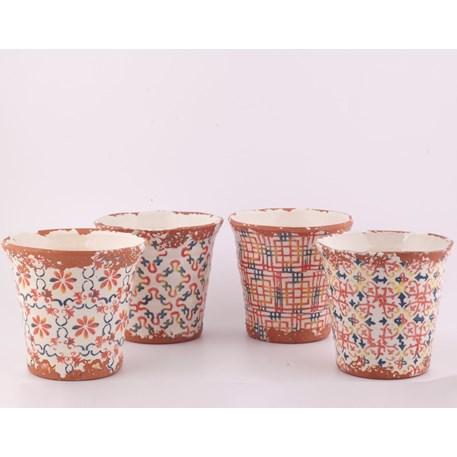 Set van 4 Portugese vazen / bloempotten