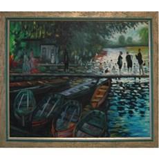 Schilderij met Impressie Kade