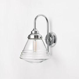 Wandlamp Luxe School Small Helder Meander Chroom