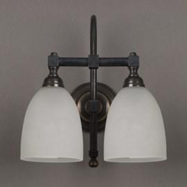 Badkamerlamp Beker Gebogen met 2 Lichten