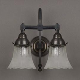 Badkamerlamp Geëtste Kelkjes 2-Lichts Grote Boog