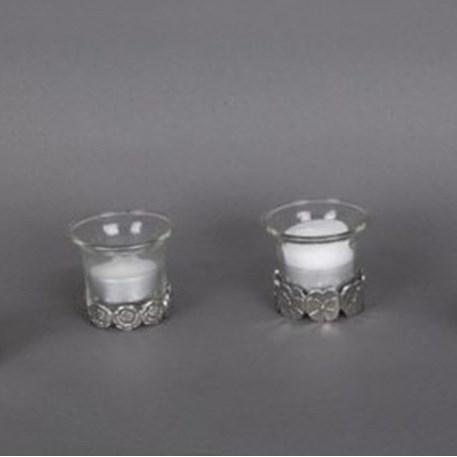 Waxinelichthouders Violet in Tin en Glas
