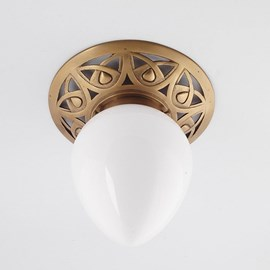Plafonnière Eleganta massief brons armatuur