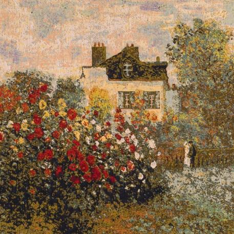 Detail Wandkleed De tuin van Monet