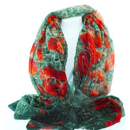 Sjaal Poppies