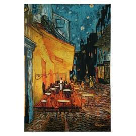 Wandkleed Caféterras bij nacht | Vincent van Gogh