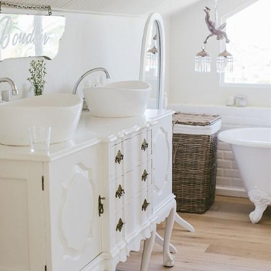 Badkamer restylen for Landelijke accessoires